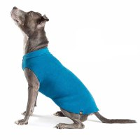 Gold Paw Fleece Dog Jacket - Marine Blue at BaxterBoo