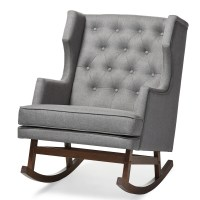Baxton Studio Iona Mid-century Retro Modern Grey Fabric ...