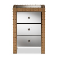 Mirrored Nightstand With Drawers. Image Of Drawer Mirrored ...