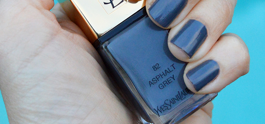 Ysl asphalt grey nail polish spring 2017 review bay area