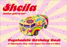 Psycadellic 1960's Party Invite