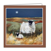 Evening on the Moor Art card by Lesley McLaren