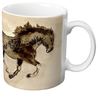 Inky Dancing Gift Mug by Diana Hand