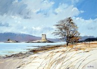 Castle Stalker in Winter