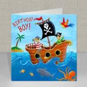 Pirate - Birthday Card