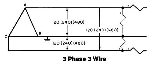 3 phase light wire diagram