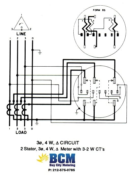 single phase sub meter wiring diagram