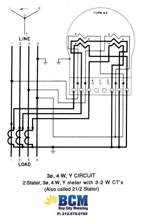 phase ct meter wiring diagram