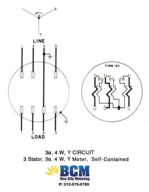 3 phase meter wiring diagram on