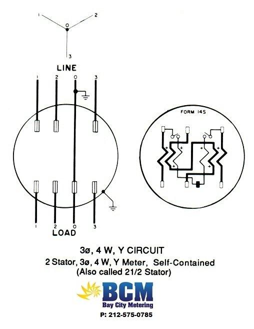meter socket wiring diagram