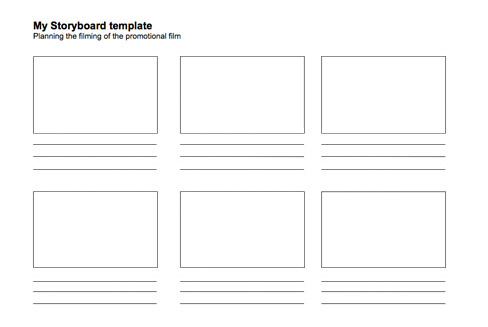BBC NI - My Place My Space - Promote Your Day Out with film - storyboard template pdf