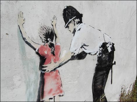 Police Officer Girl Wallpaper Bbc Somerset Entertainment And Leisure Banksy Destroyed