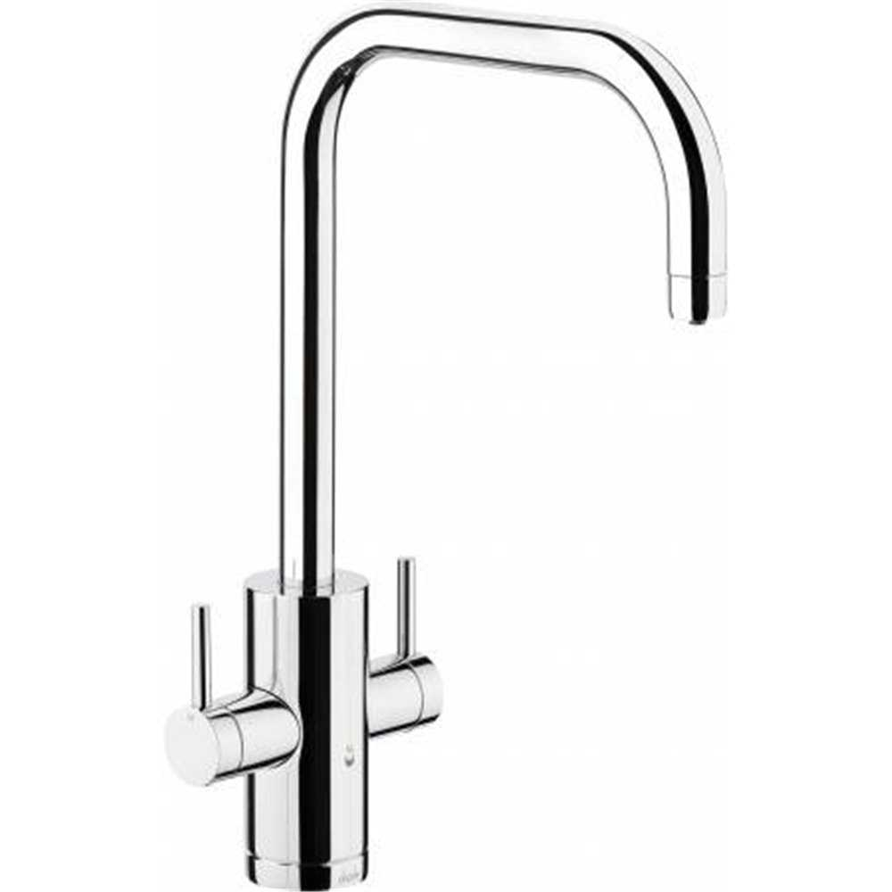 Abode Project Brushed Nickel Chrome Monobloc Hot Water