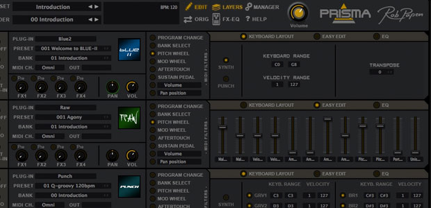 Rob Papen proffers PRISMA plug-in to stack its software instruments as a 'single' sound source