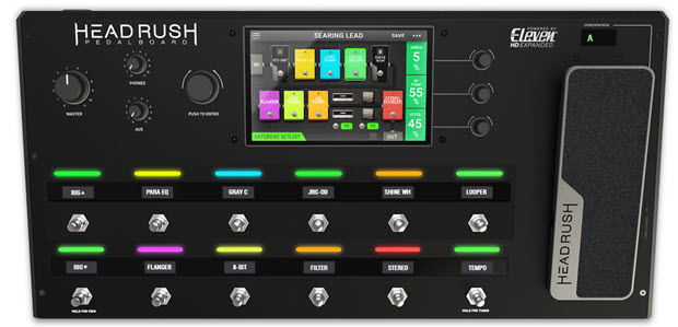 Headrush Pedalboard - Quad-­Core Dsp Amp And Fx Modeling With Touchscreen Interface