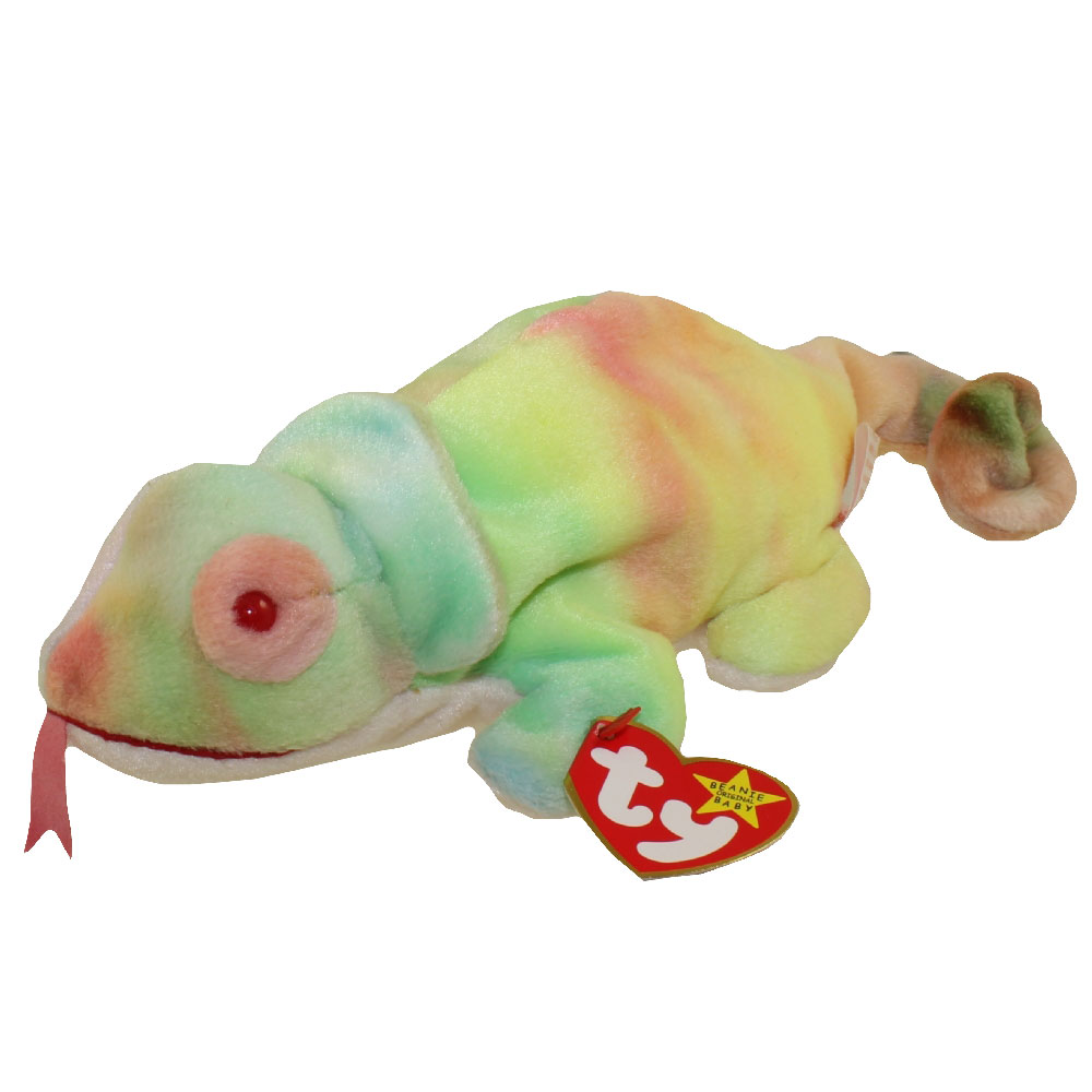 ty beanie baby rainbow the chameleon tye dyed 9 inch bbtoystore com