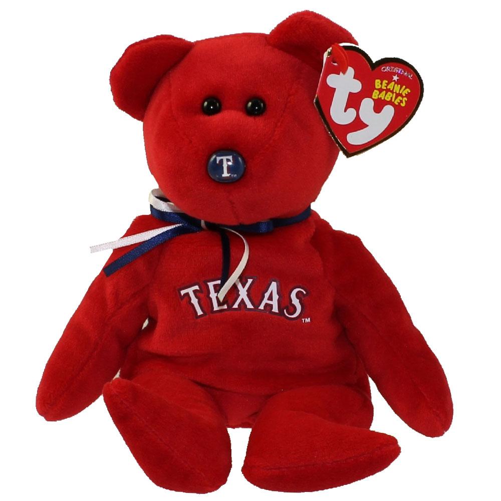 ty beanie baby mlb baseball bear texas rangers 8 5 inch bbtoystore com