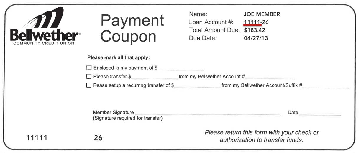Payment Coupon Book Template - Hlwhy