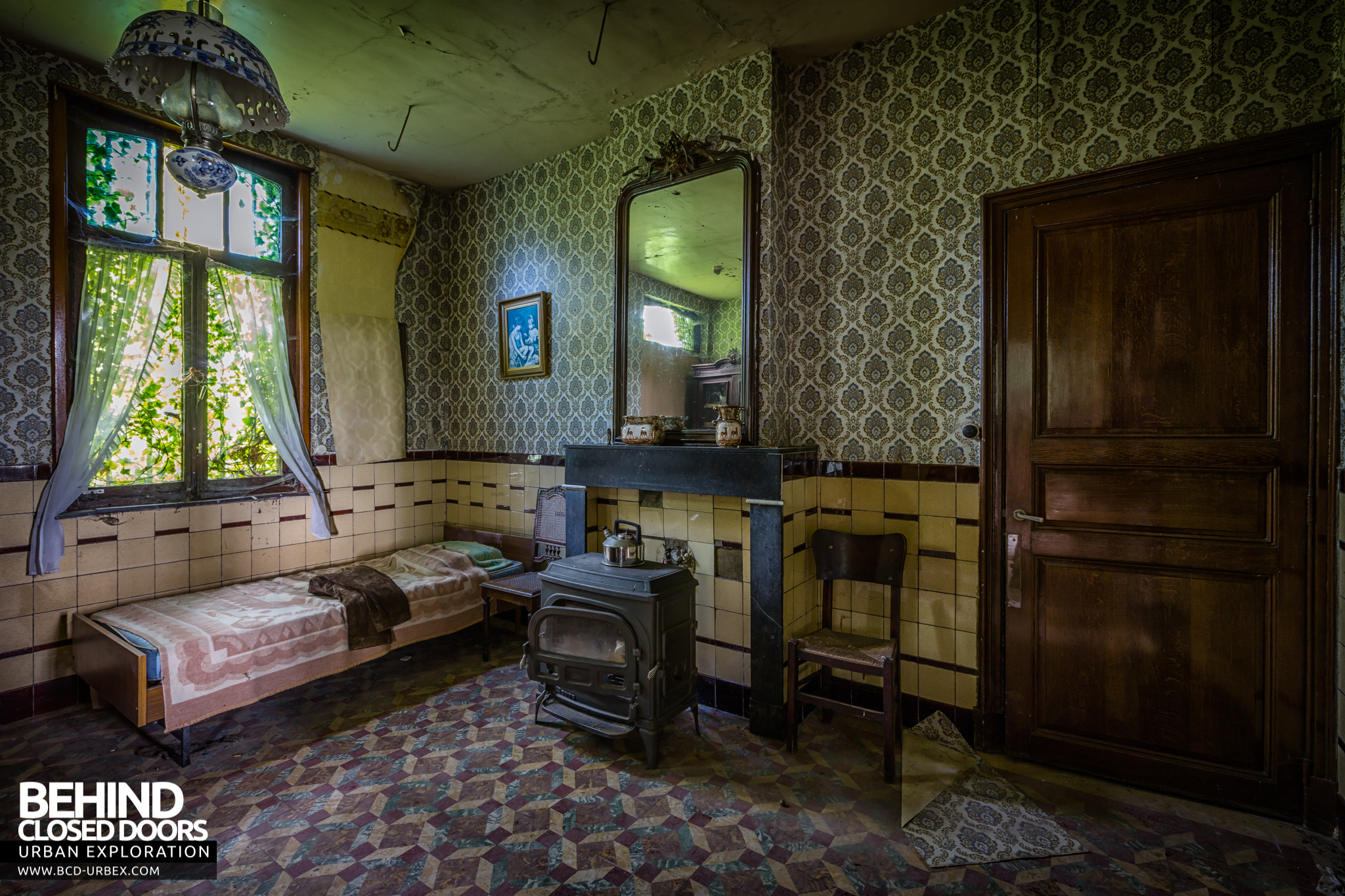 3d House Wallpaper Room Maison Gustaaf Abandoned House Belgium 187 Urbex Behind