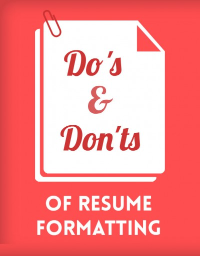 The Do\u0027s  Don\u0027ts of Resume Formatting BCJobsca