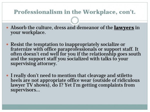 Professionalism as Key Legal Support Staff Skill
