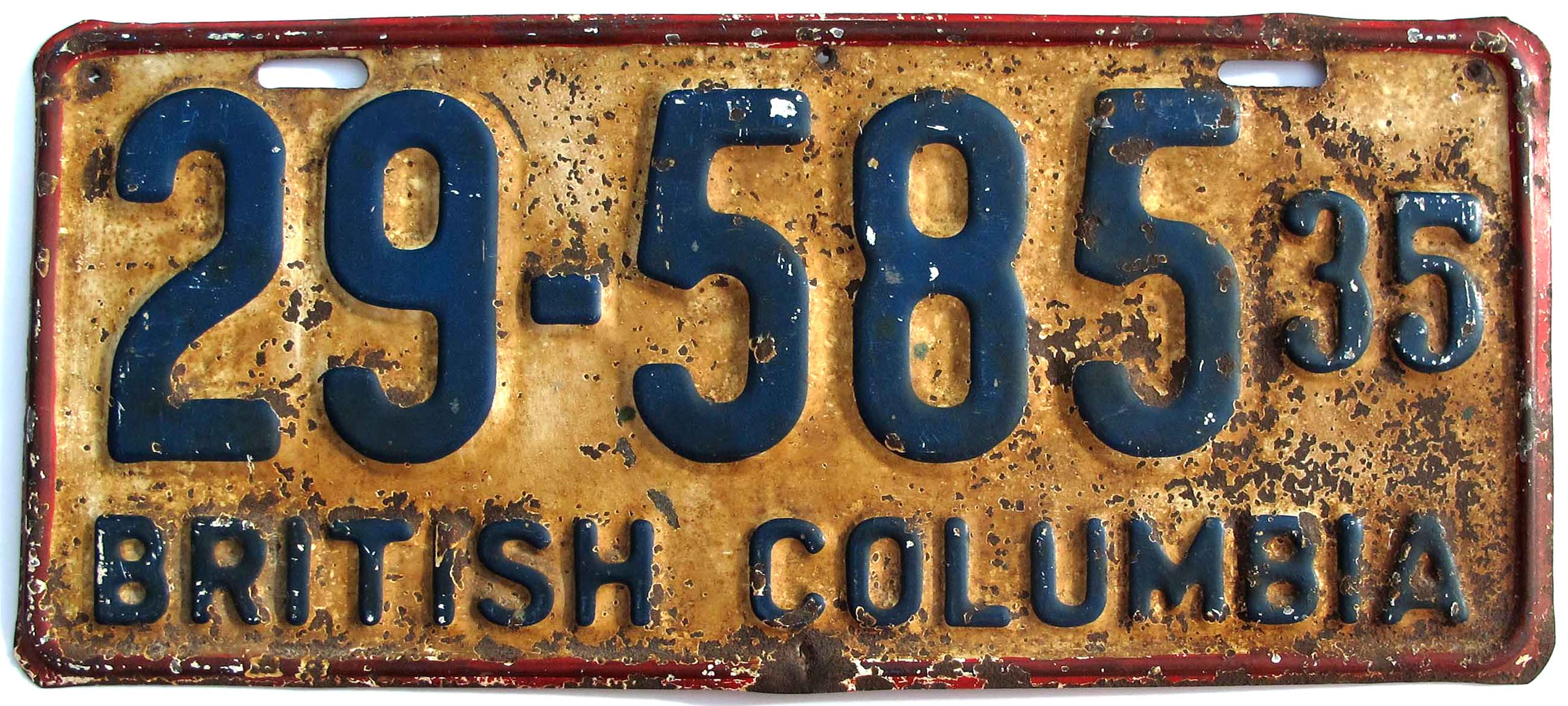British Columbia National Park License Plates