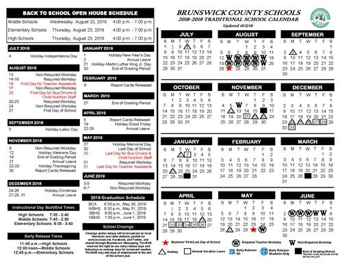 Please see the revised school calendar and make plans accordingly!