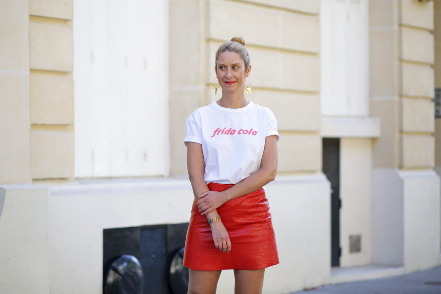 Frida Cola Tee And Red Skirt Other Stories Blog Mode