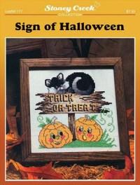 Stoney Creek - Sign of Halloween - Cross Stitch Pattern