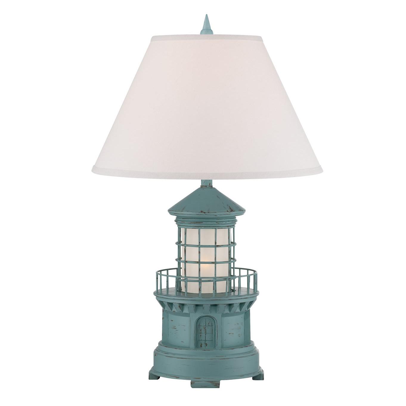 Cottage lighthouse lamp 3 colors cottage blue