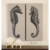 Seahorses Wall Art S/2