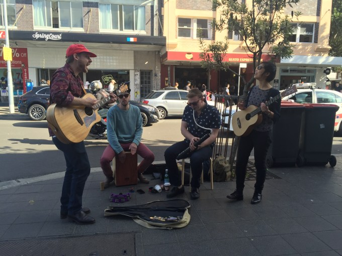 These guys belted out Amy Winehouse's Valerie on Hall Street :: image by Beached Blonde