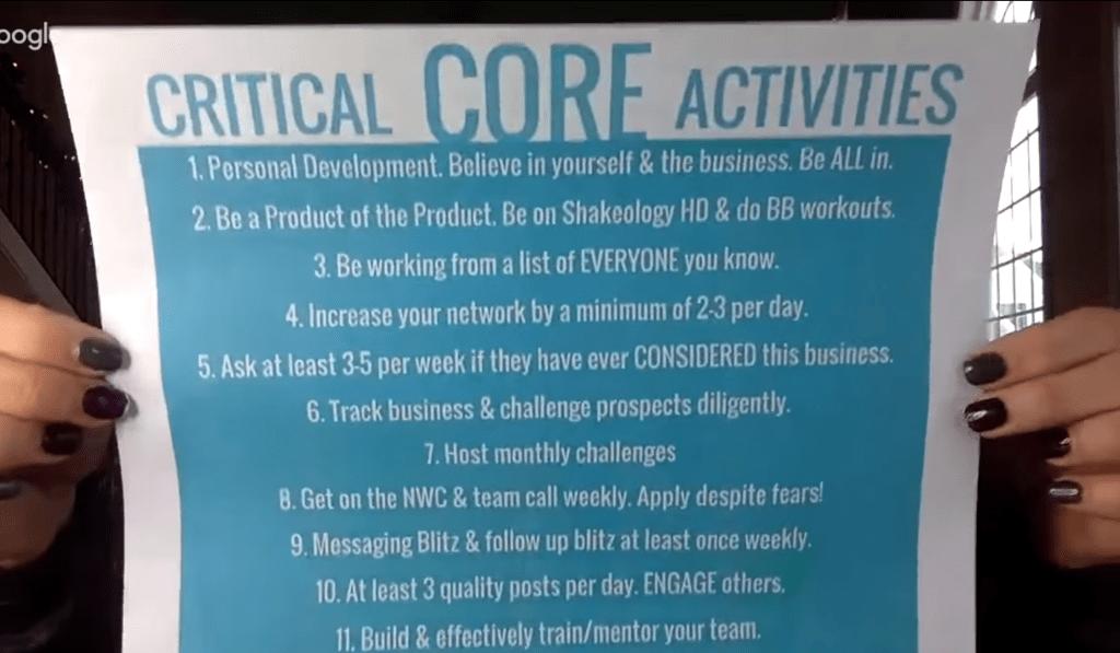 Twelve Critical Core Activities of Beachbody Coaches