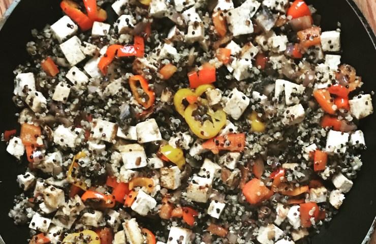 Quinoa Tofu Breakfast Scramble