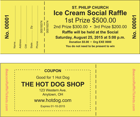 Raffle Tickets BeaconRaffleTickets - raffle ticket
