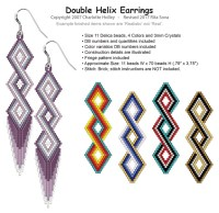 Double Helix Earrings | Bead-Patterns