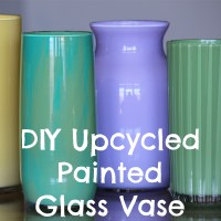 DIY Upcycled Painted Glass Vase