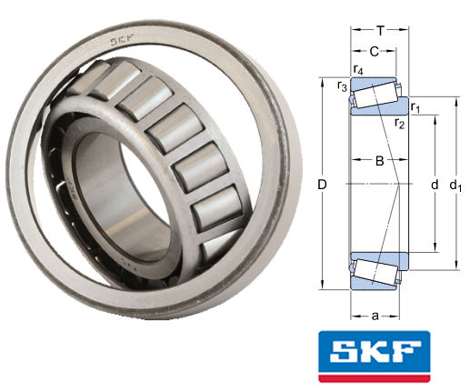 32215J2/Q SKF Tapered Roller Bearing 75x130x3325mm Taper Roller