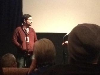 """Ryan Murdock, director and produce of """"Bronx Obama"""" speaks after his film. Photo by Brayden Parker"""