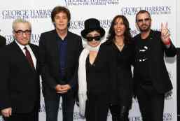 Martin Scorsese, Paul McCartney, Yoko Ono, Olivia Harrison and Ringo Starr at the premiere of George Harrison: Living In The Material World, 2 October 2011
