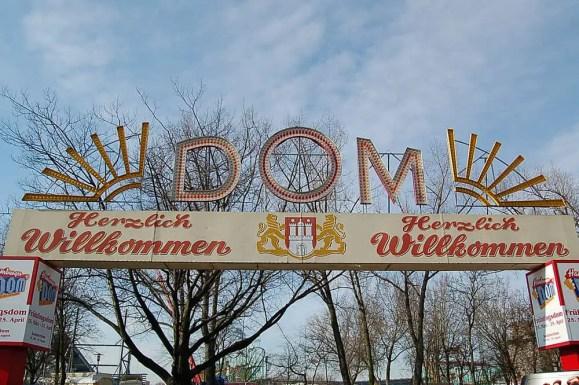 Dom Fairground entrance, Hamburg, 2011