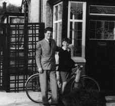 John Lennon, 8, with his cousin Stanley Parkes, 15