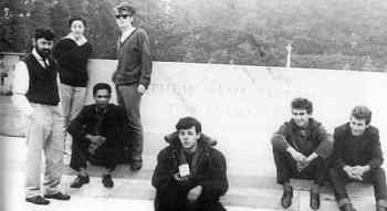 The Beatles with Allan and Beryl Williams and Lord Woodbine, Arnhem war memorial, 16 August 1960