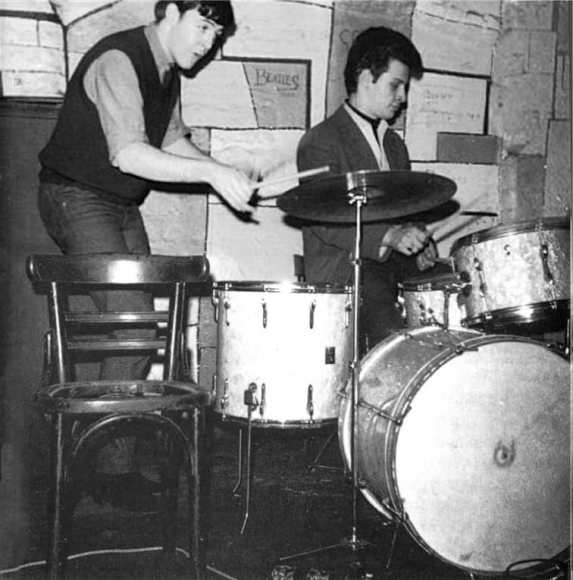 Paul McCartney and Pete Best, Cavern Club, Liverpool, 3 June 1962