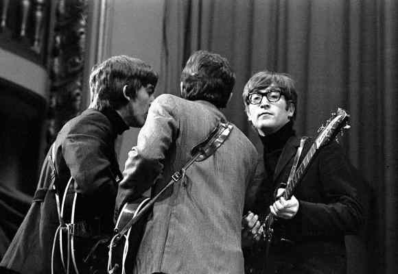 George Harrison, Paul McCartney and John Lennon, Saturday Club, BBC, 17 December 1963