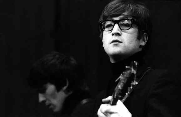 George Harrison and John Lennon, Saturday Club, BBC, 17 December 1963