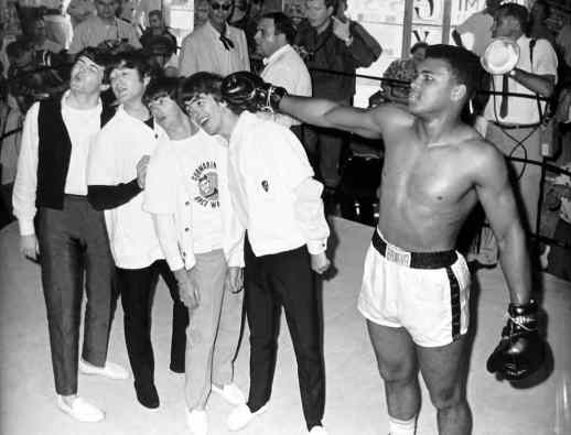 The Beatles with Cassius Clay (Muhammad Ali), 18 February 1964