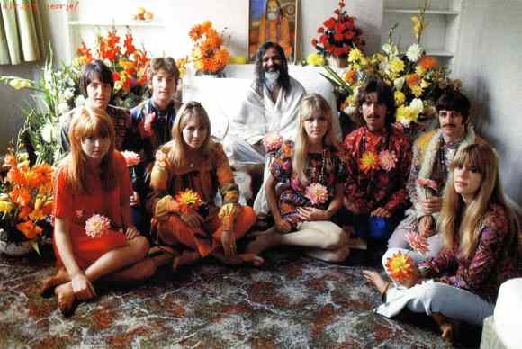 The Beatles and partners with Maharishi Mahesh Yogi, 1967