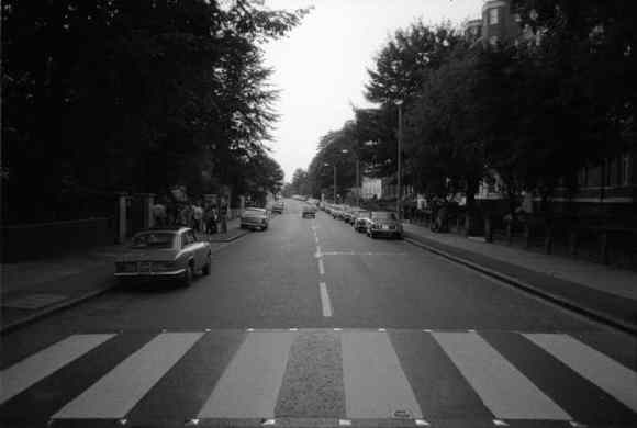Abbey Road, taken on the morning of The Beatles' album cover shoot, 8 August 1969
