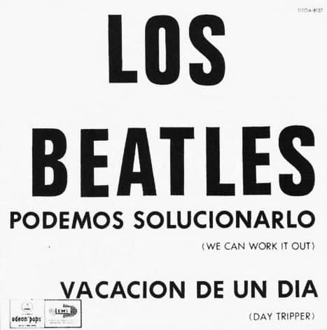 We Can Work It Out/Day Tripper single artwork - Argentina
